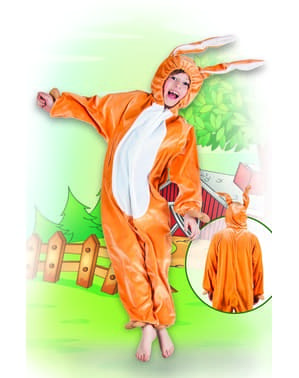 Brown hare onesie costume for boys