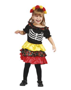 Meksikansk Catrina kostyme til jenter