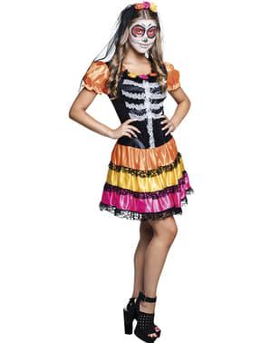 Catrina Day of the Dead Maskeraddräkt för ungdom