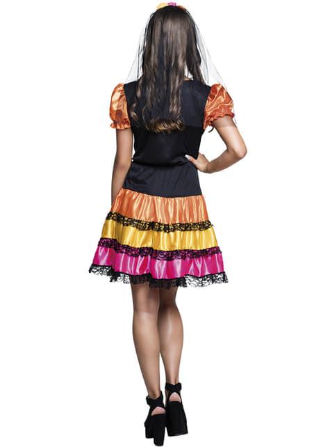Disfraz de catrina día de los muertos para adolescente - adolescente
