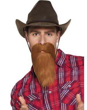 Skägg cowboy rödhårigt vuxen