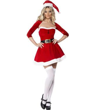 Strój dziewczyna świętego Mikołaja Fever