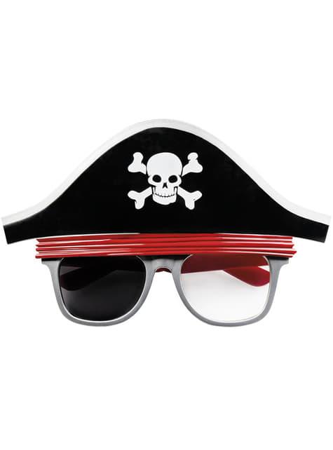 Gafas de pirata con sombrero para adulto