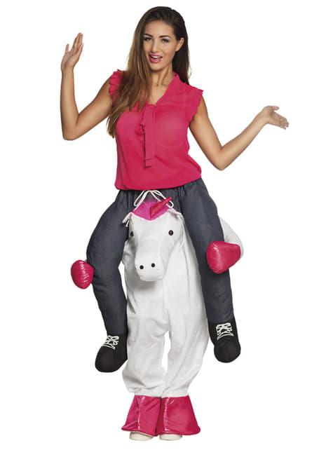 Déguisement porte-moi licorne fantaisie adulte