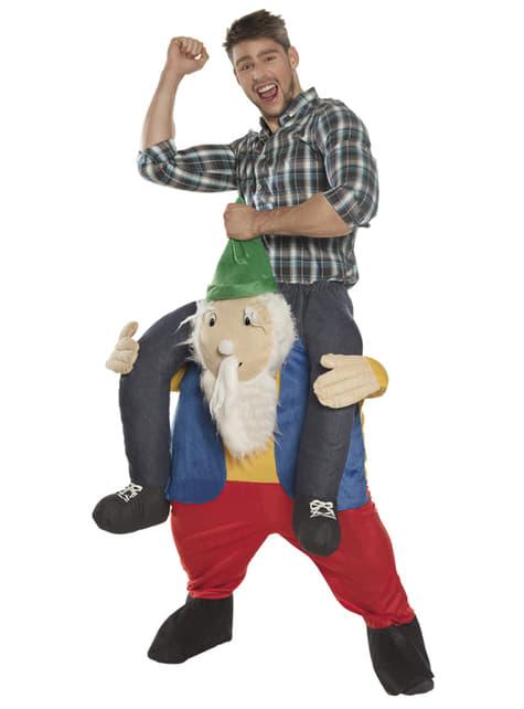 Disfraz de gnomo ride on para adulto