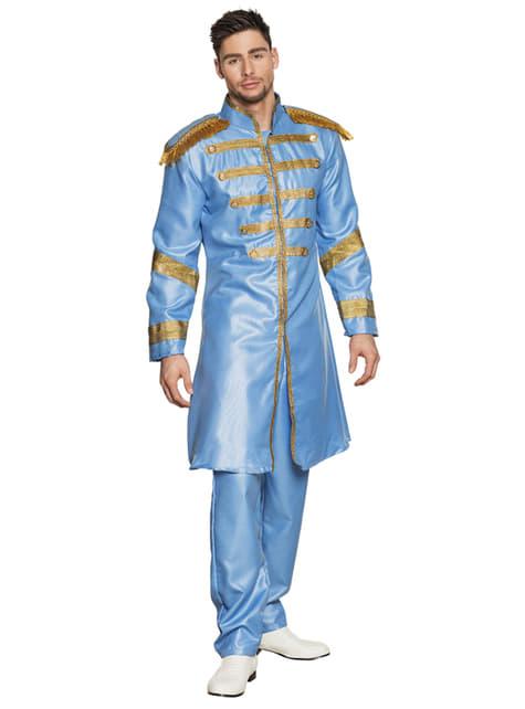 Fato de cantor de Liverpool azul para homem