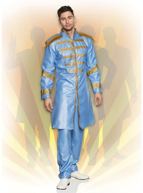 Disfraz de cantante de Liverpool azul para hombre - original