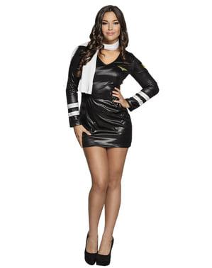 Costum negru de pilot pentru femei