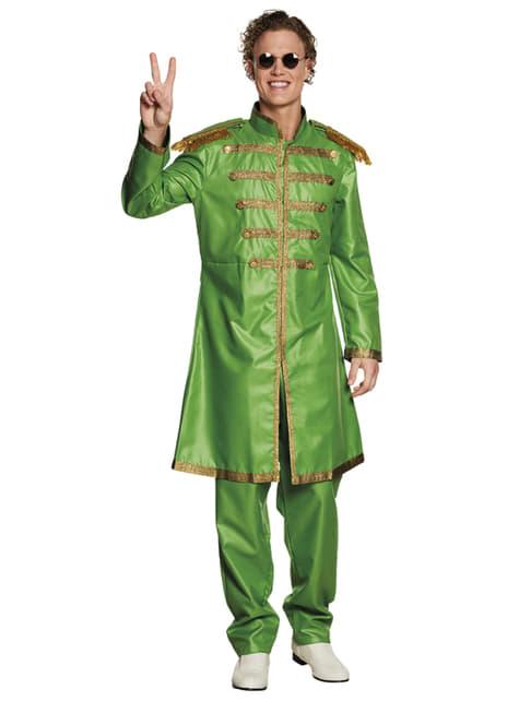 Grønn Liverpool sanger kostyme til menn