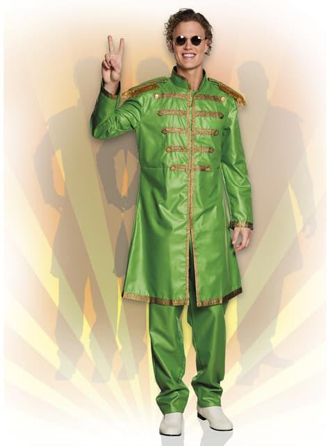 Disfraz de cantante de Liverpool verde para hombre
