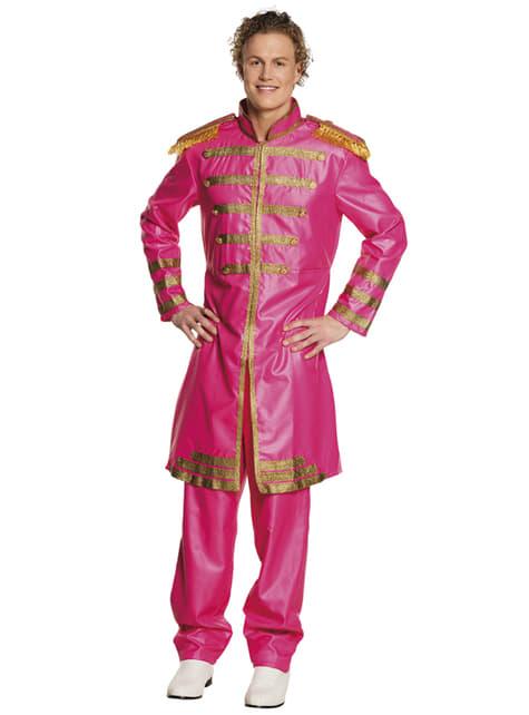 Disfraz de cantante de Liverpool rosa para hombre