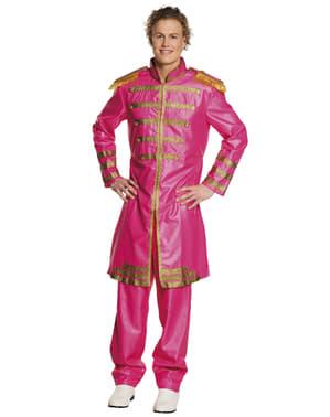 Roze Liverpoolse zanger kostuum voor mannen