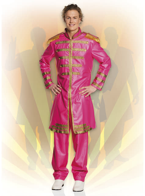 Disfraz de cantante de Liverpool rosa para hombre - original