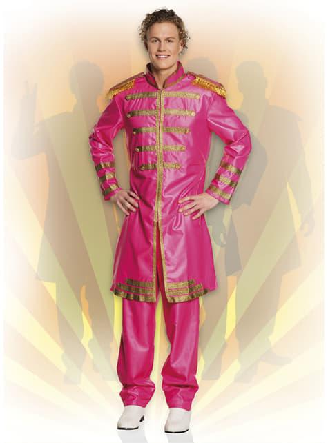 Fato de cantor de Liverpool cor-de-rosa para homem