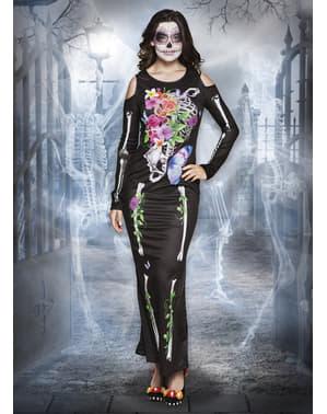 Elegant Catrina kostume til kvinder