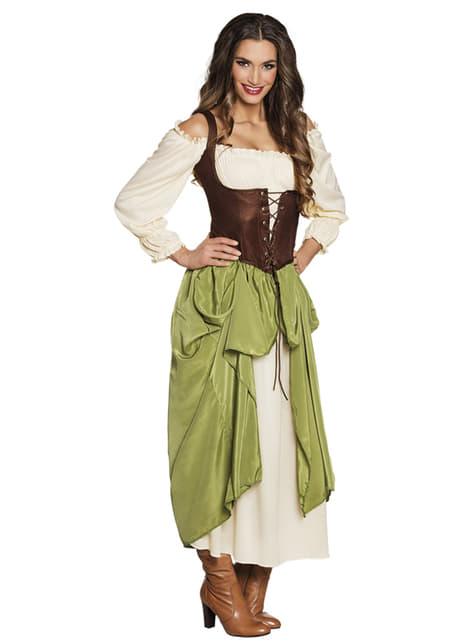 Fato de taberneira medieval para mulher