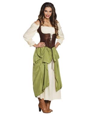 Middeleeuws gastvrouw kostuum voor vrouw