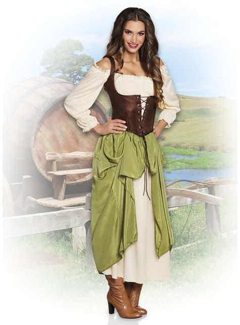 Disfraz de tabernera medieval para mujer - original