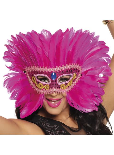Antifaz de flamenco rosa para adulto