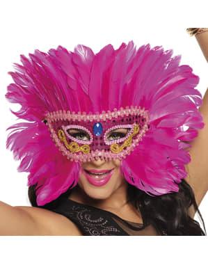Roze flamingo oogmasker voor volwassenen
