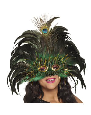 Maschera del pavone reale per donna