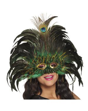 Påfugl øyemaske til dame