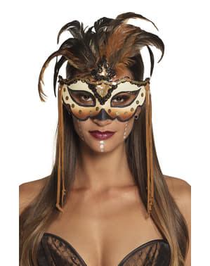 Voodoo tovernaar oogmasker voor vrouw