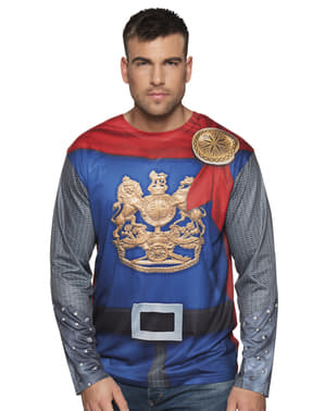 Middeleeuws strijder t-shirt voor mannen