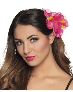 Flor hawaiana para el pelo