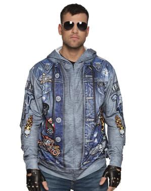 Jachetă de motociclist albastră pentru bărbat