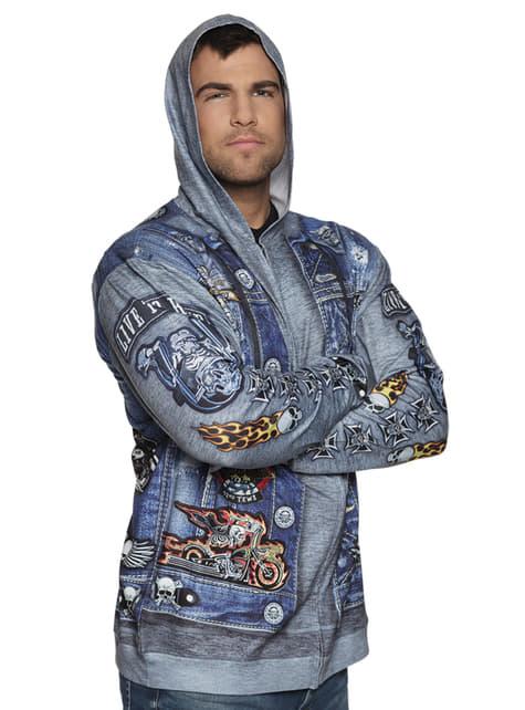 Chaqueta de motociclista azul para hombre - hombre