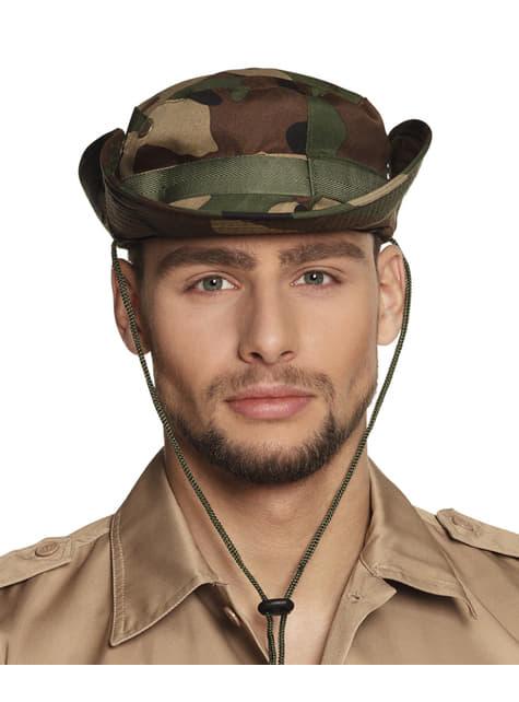 Pălărie de explorator militar pentru adult
