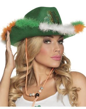 Sombrero de cowboy irlandés para adulto