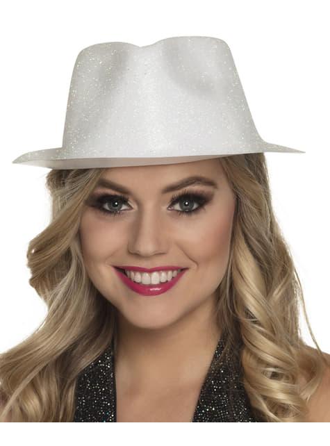 Sombrero de nochevieja blanco para adulto - para tu disfraz