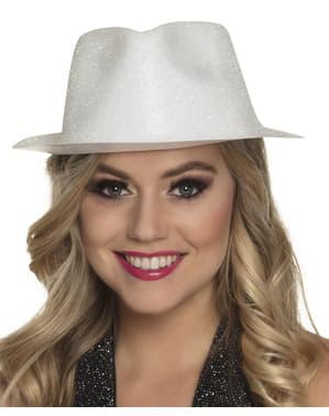 Valkoinen Uudenvuoden Aaton hattu aikuisille