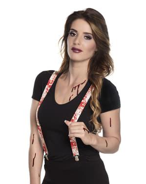 Bleeding suspenders for adults