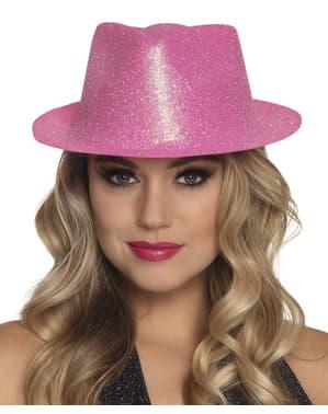 Różowy kapelusz na Sylwestra dla dorosłych