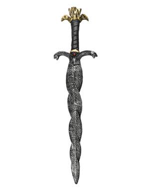 Miecz egipski z ostrzem z dwóch węży