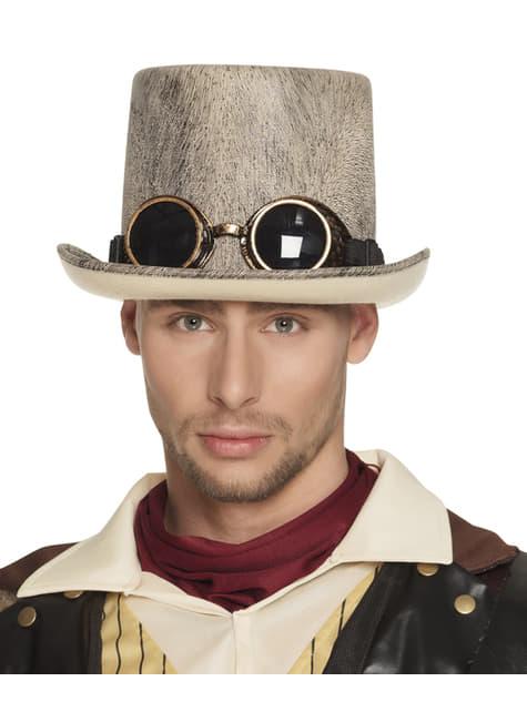Sombrero steampunk beige para adulto - para tu disfraz