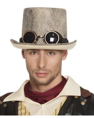 Cappello steampunk beige per adulto