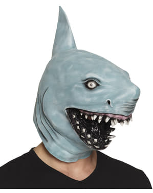 Killer shark mask for adults