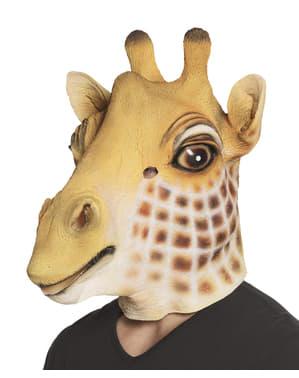 Máscara de girafa adorável para adulto