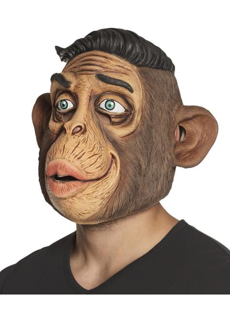 Máscara de mono repeinado para adulto