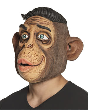 Affe mit schicker Frisur Maske für Erwachsene