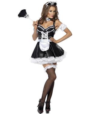 Flirterig Frans dienstmeisje Kostuum