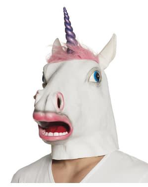 Máscara de unicórnio classic para adulto