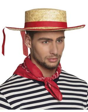 Gondolijer slamnati šešir