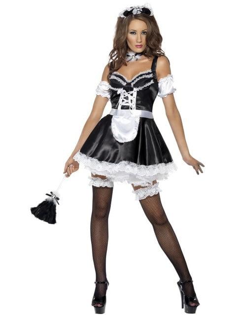 Лихоманка Flirty французька покоївка дорослих костюм