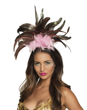 Pink Brazilian carnival headband for women