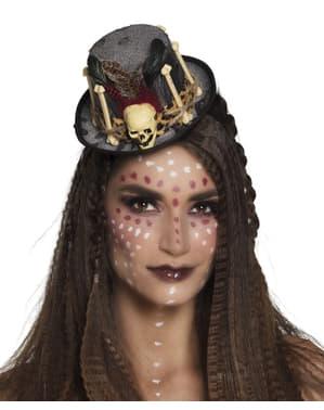 Sombrero de hechicera vudú para mujer